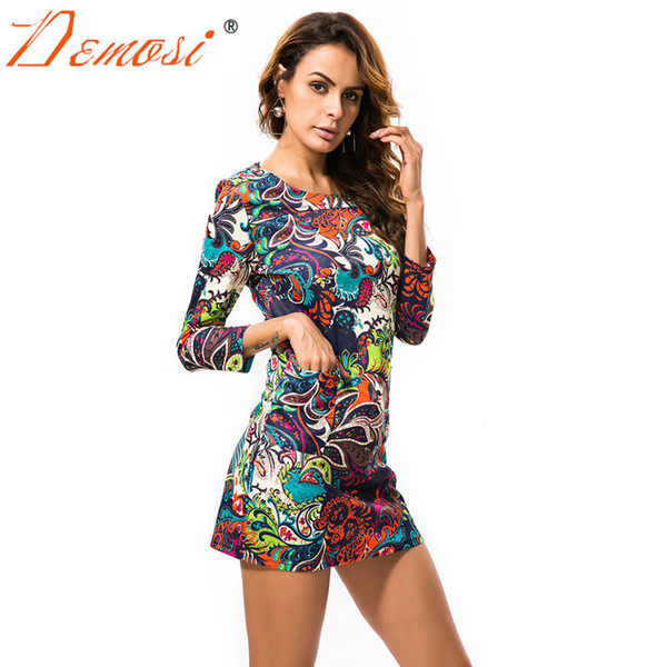 2018 New Women African Print Dresses T shirt Dress Fashion LadY Casual Summer Vintage Boho Maxi Floral Leopard Party Sexy Dress