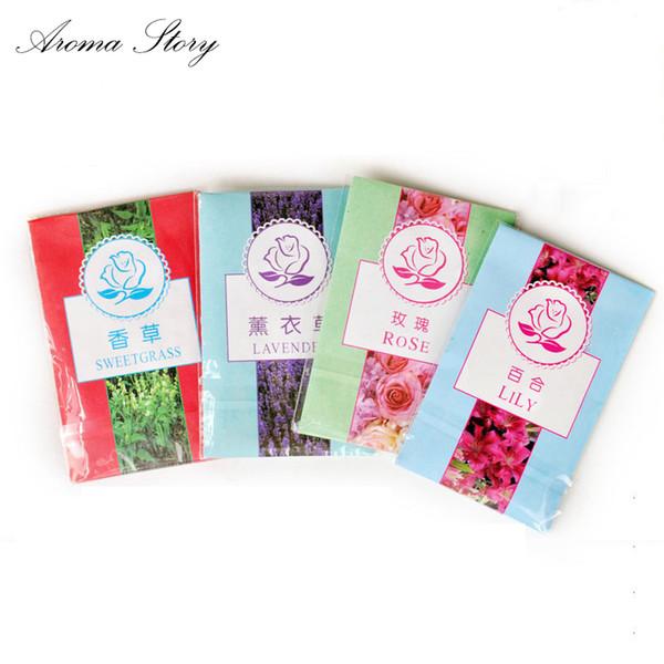 Aroma Story 100pcs/lot Aromatherapy Natural Smell Incense Wardrobe Sachet Air Fresh Scent Bag Free Shipping