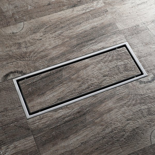 304 Stainless Steel Bathroom Kitchen Floor Drain 30cm Grates Waste Linear Shower Drain 12 Inch Insert Long Floor Drains Brushed