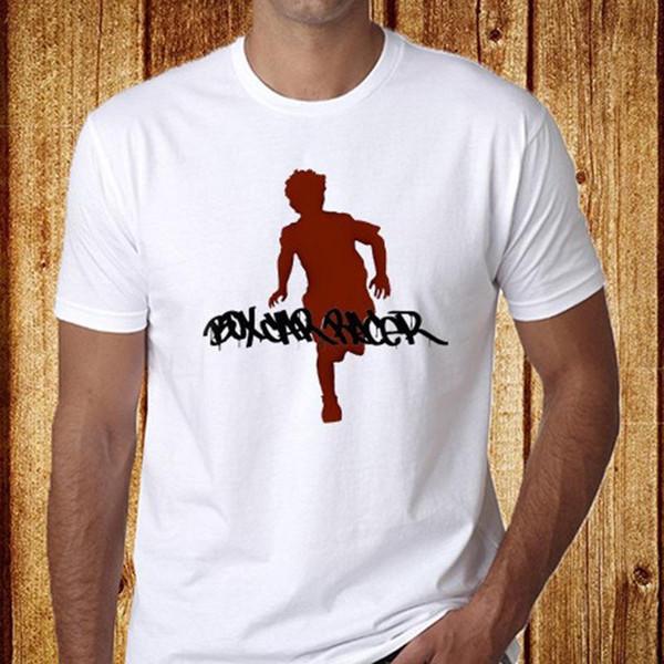 Camisa de T Do Dia Casual Box Car Racer Dos Homens de Manga Curta O-pescoço Camisetas