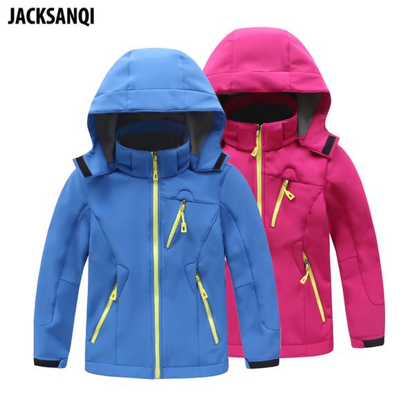 Kinder Mäntel Großhandel Jacksanqi Softshell Boy Jacken Mädchen Fleece Camping Trekking Windjacke Von Winter Outdoor Sport Wandern Ra093 OZuiXwkPTl