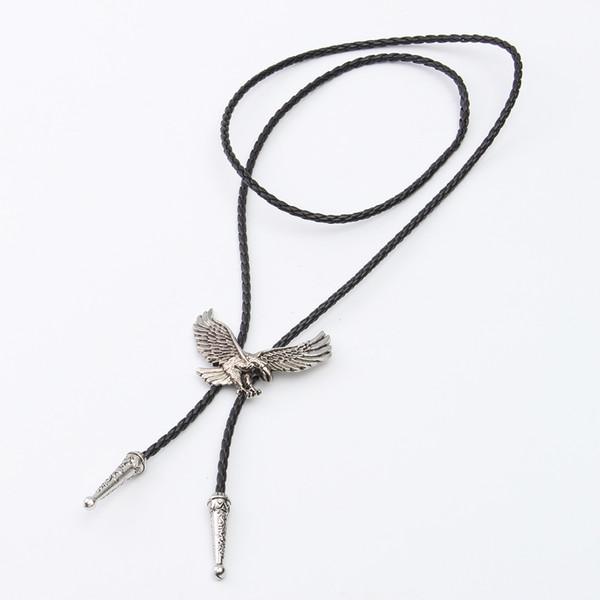 Новый западный ковбои мужской Боло галстук Орел шаблон PU кожаный галстук для мужчин воротник рубашки ожерелье галстук-бабочку старинные Моды галстуки