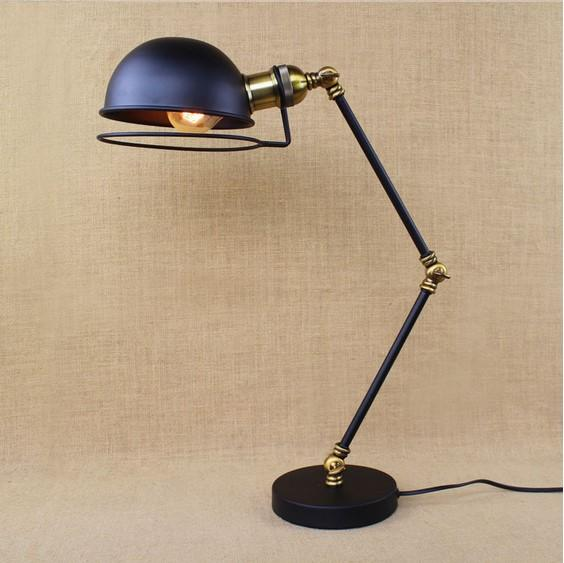 RH loft Industrial Table Lamp For Bedroom With Long Arm Desk Lamp For Living Room,Abajur Lamparas De Mesa Lampe