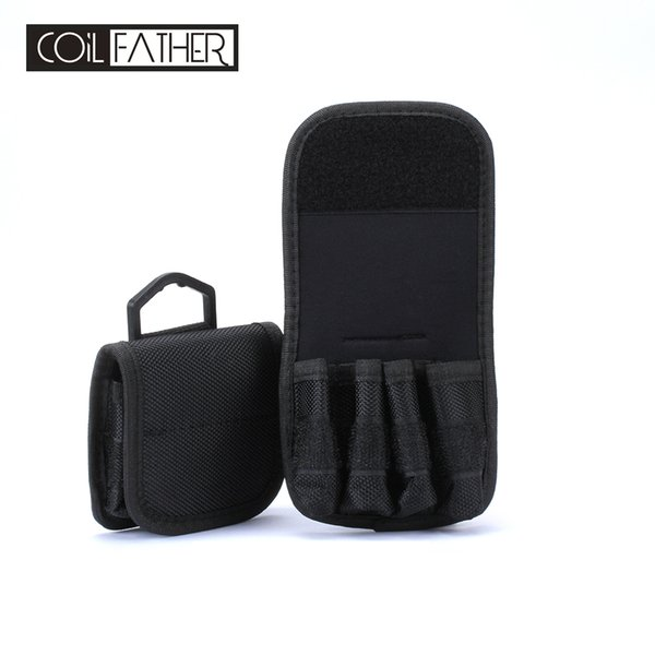Coil Father 18650 Battery Bag Storage Pouch Canvas Easy Carrying Batteries Case For Electronic Cigarette Box Mod Tank Bottle