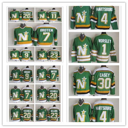 buy popular 5ac87 3a8d1 2019 2018 Hot Sale New Style Jersey 30 Jon Casey Mike Modano Throwback  Jersey Gump Worsley Ciccarelli Craig Hartsburg Neal Broten Hockey Jersey  From ...
