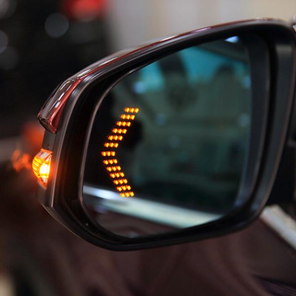 OHANEE 2 pc dividono 14 SMD freccia del LED del pannello di visualizzazione Per Car Rear Indicator specchio segnale di girata della luce dell'automobile LED retrovisore luce / specchio