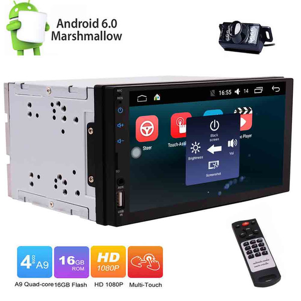 Back-up Camera Eincar Android 6.0 Car Radio Double Din Stereo in Dash Touch Screen Capacitive Quad-Core GPS Sat Nav Bluetooth/RDS/SD