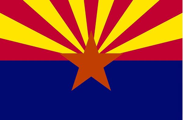 3X5FT ABD Arizona Eyalet Bayrağı Amerikan Birleşik Devletleri Bayrağı Afiş Kenar Çift Stiched Dayanıklı Polyester Dekoratif