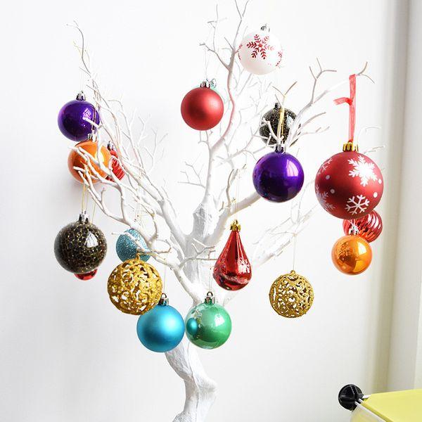 Mixed Frames Shapes 30-50PCS/Set DIY Hand Creative Home Decor Wedding Party Suppliers Decoration Christmas Ball Ornaments
