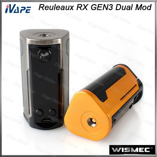 1 PC WISMEC Reuleaux RX GEN3 Dupla Caixa TC MOD 230 W com Grande Display de 1.3 polegadas de Proteção de Dois Circuitos Firmware Upradable 100% Original