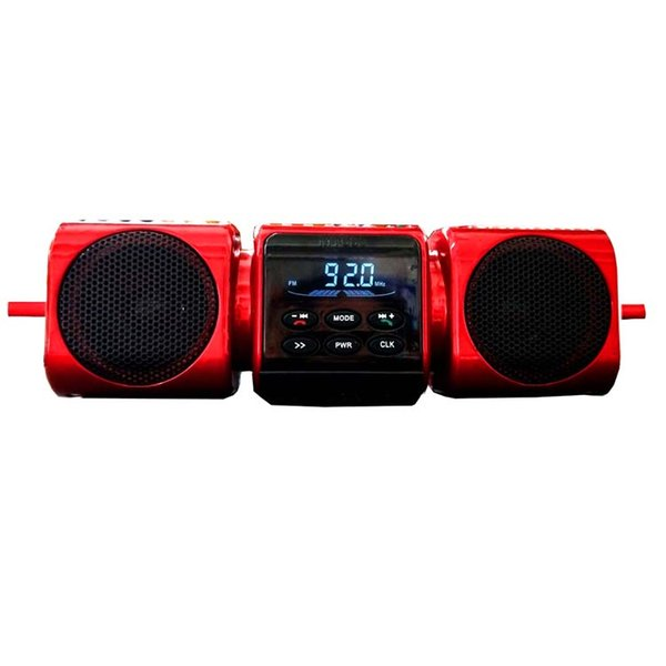 wholesale red color loud sound motorcycle rider special use waterproof stereo with motorcycle bluetooth handfree speaker audio system