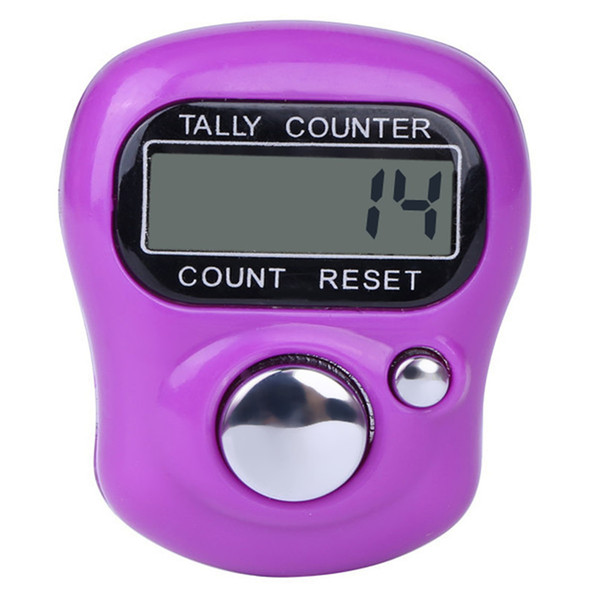 Digital LCD elettronico da golf a mano con l'anello della mano per il lavoro a maglia Tally Counter TALLY Pedometro # F # 40AT14
