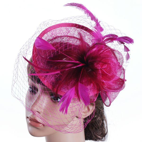 White Bridal Hats Cute Feather Wedding Party Accessories Novia Fascinator Sombrero de la boda Sombreros Special-Occasion-Hats Sombrero de la boda Velos Marfil