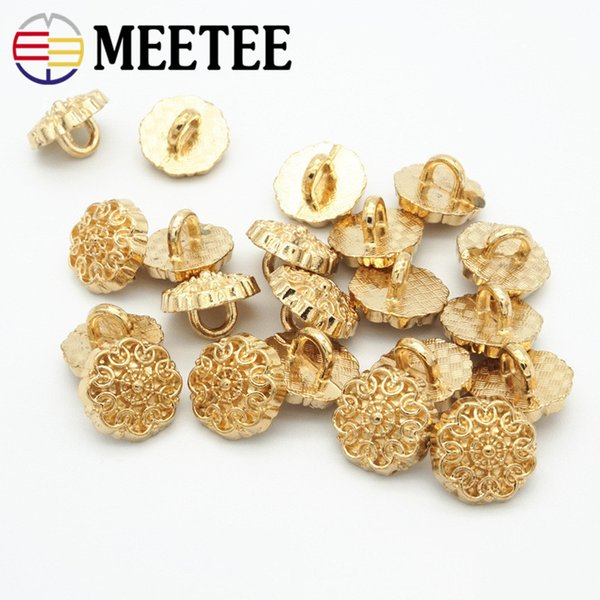 100 pcs/lot High-grade fashion gold shirt metal shanked buttons 10mm Sewing Buttons Scrapbooking Crafts DIY C2-52