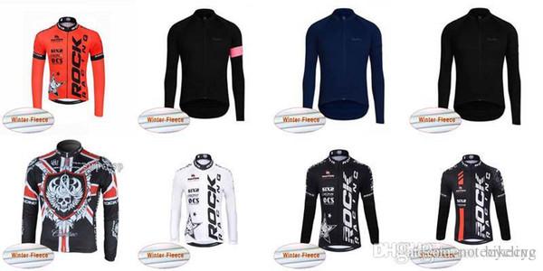 ROCK RACING RAPHA team Ciclismo invernale in pile termica jersey Bicicletta traspirante abbigliamento ciclismo Racing Ropa ciclismo C3013