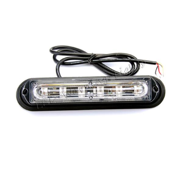 Livraison gratuite 4 pcs 6 W LED feu de signalisation de phare ambre LED stroboscopique d'urgence clignotant d'urgence pour jeep wrangler camionnette poids lourds véhicules