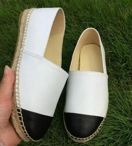 Fashion Canvas et Real Lambskin Femme Espadrilles Flat Shoes Mocassins D'Eté Espadrilles Taille EUR34-42 Plusieurs Couleurs