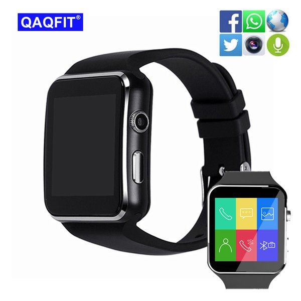 QAQFIT X6 Smart Watch with Camera Touch Screen Support SIM TF Card Smartwatch for Xiaomi Android Phone