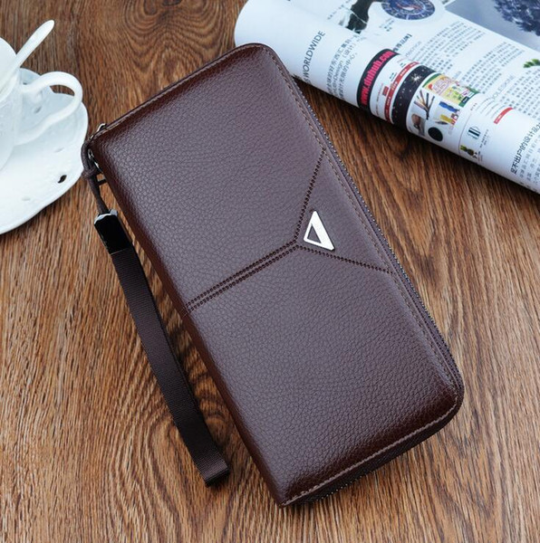 Factory wholesale brand bag embossed leather wallet fashion gentleman style multi card business long wallet simple leather hand Wallet