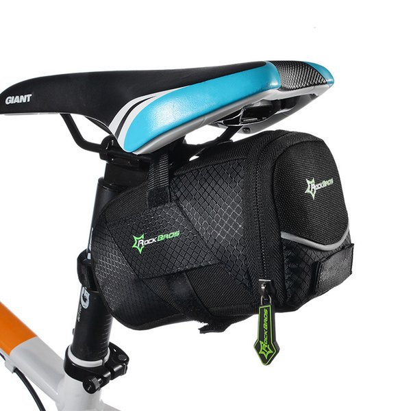 Wholesale Waterproof Mini Mountain Bike Saddle Bag Pouchs Road Bicycle Back Seat Tail Package Outdoor Cycling Mini Saddle Seatpost Bag