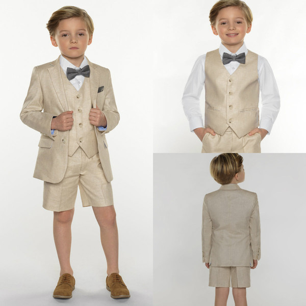 2018 Summer Three Pieces Boys Clothes Handsome Custom Made Boys Formal Suits Kids Formal Suit With Free Shipping Top Qaulity
