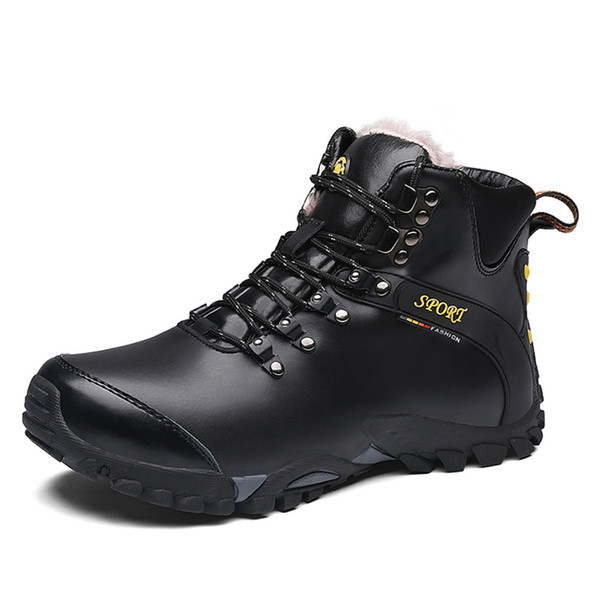 Good Quality Winter Waterproof Hiking Shoes for Men Super Warm Snow Boots Sports Wear Resistance Male Sneakers Plus Size 10.5