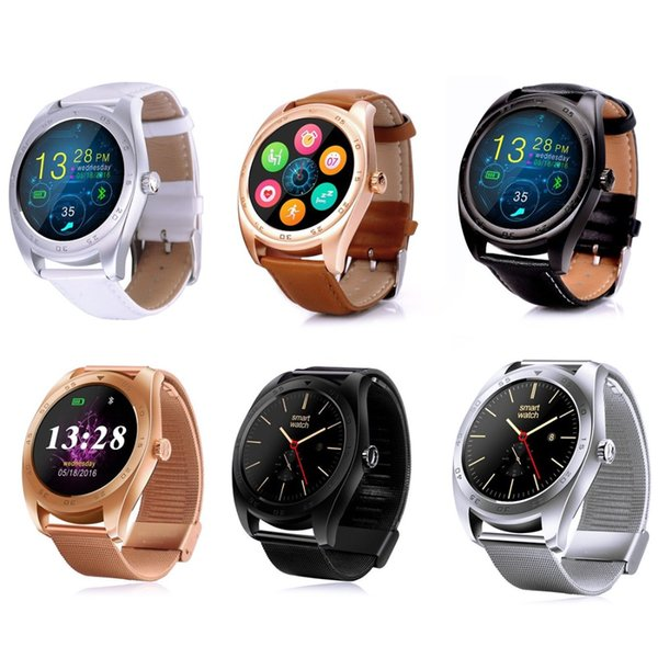 Fashion K89 Smart Watch Round Screen Smartwatch Heart Rate Monitor Watch for Huawei Android