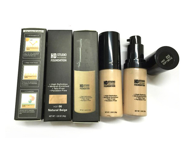 Waterproof Long-lasting NYX HD Studio Foundation Cosmetics High Definition Mineral-Enriched Liquid Face Makeup DHL Free