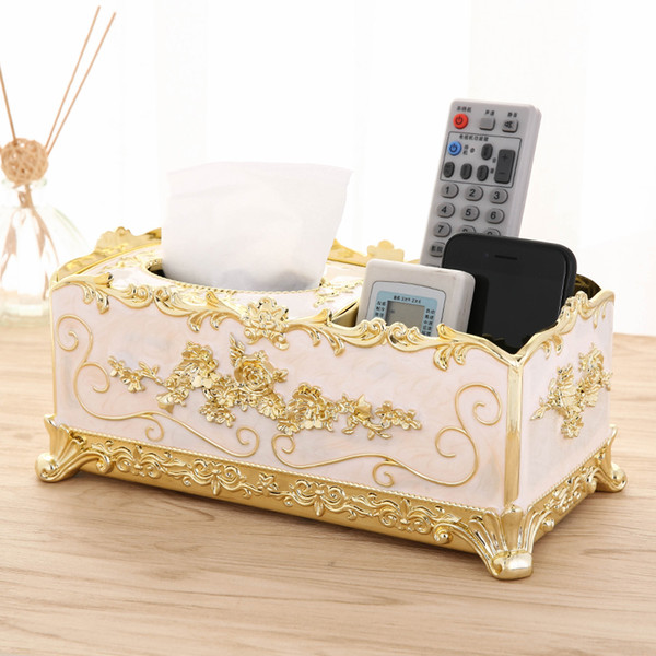 top popular Acrylic Tissue Box Paper Rack Office Luxury Table Accessories Home Office KTV Hotel Car Facial Case Holder Party Living Room Decoration 2021
