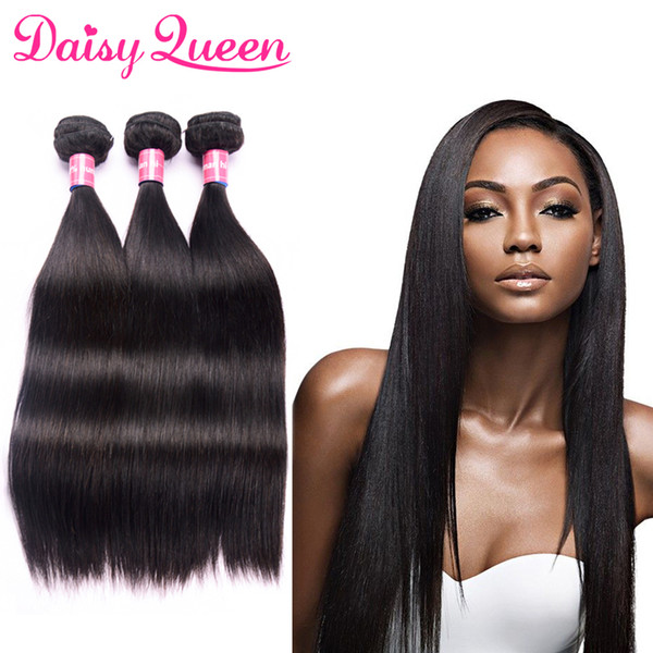 Raw Indian Straight Hair Bundles Human Hair Extensiosn Unprocessed 8A Indian Remy Hair Weave Bundles Natural Color 3pcs/lot Free Shipping