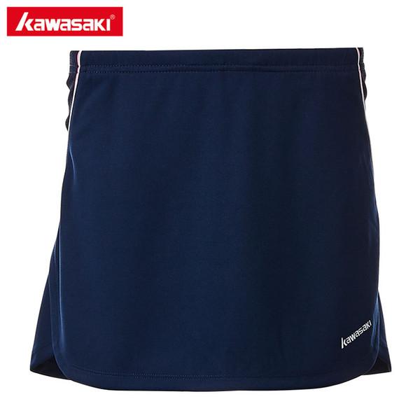 2018 Kawasaki Brand Professional Badminton Skirt 100% Polyester Breathable Solid Tennis Skorts For Women Ladies SK-T2703