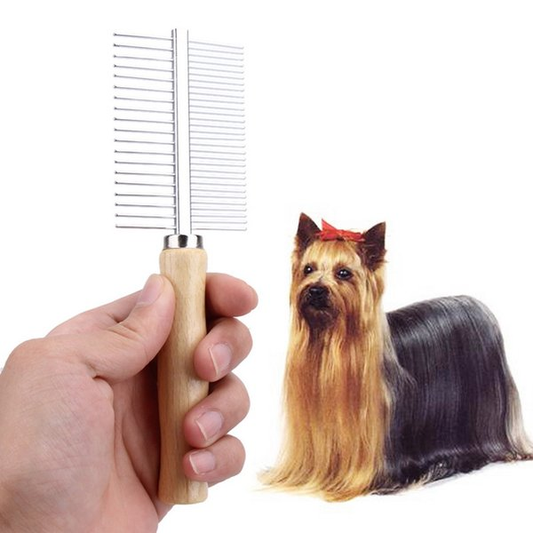 Multi-usage Dog Brush Stainless Steel Dog Brush Pet Grooming Steel Thick Hair Fur Shedding Remove Rake Comb Pet Grooming Brush