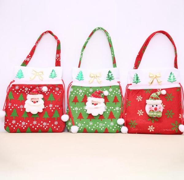 Süße Cartoon neue Geschenktüte Weihnachten Stereo Weihnachtsgeschenk Pack ältere Tasche Weihnachtsabend Apple Dekoration Tasche