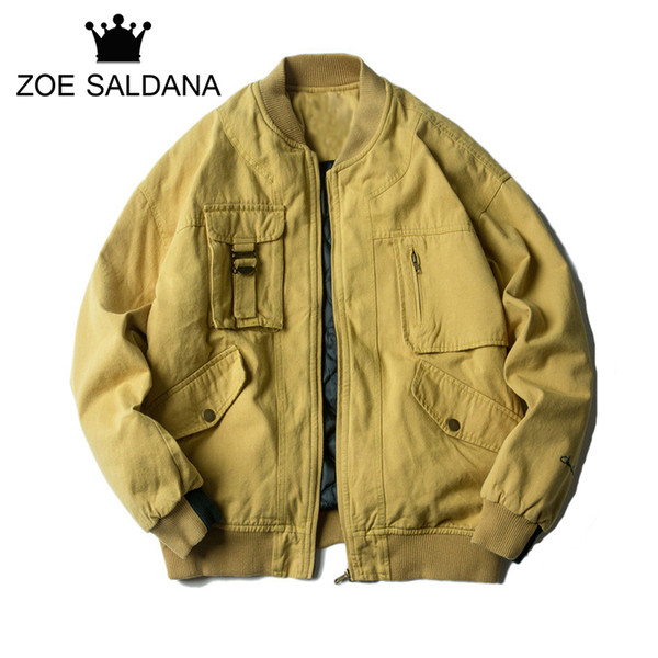 2019 Wholesale Zoe Saldana Men's Winter Coats Homme Solid Thickening Stand Collar Warm Jackets Male Zipper Basic Outerwear Brand Clothing From Genguo,