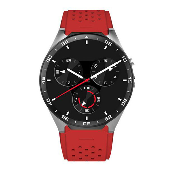 2018 4color KINGWEAR KW88 Smart Watch 1.39 Inch MTK6580 Quad Core 1.3GHZ Android 5.1 3G Smart Watch 400mAh 2.0 Mega Pixel Heart Rate 20pcs