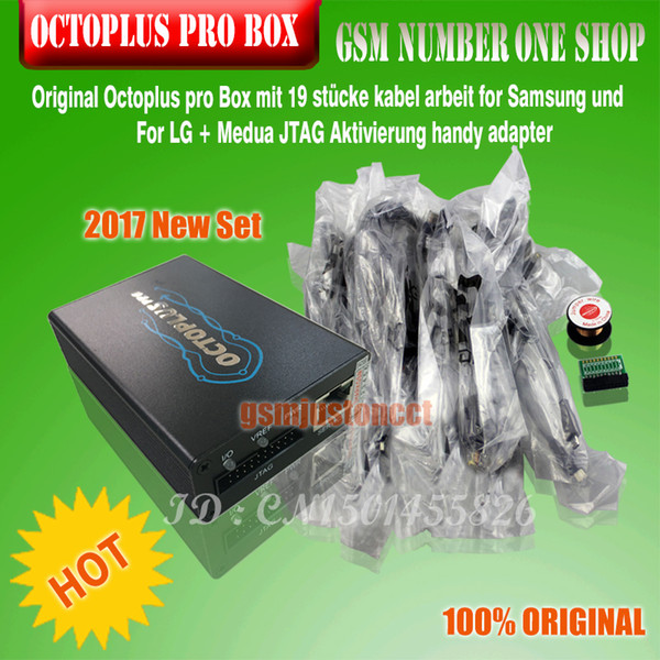 Original Octoplus pro Box with 19pcs cables work for Samsung and FOR LG+Medua JTAG Activation mobile phone adapters free shipping by ems/dhl