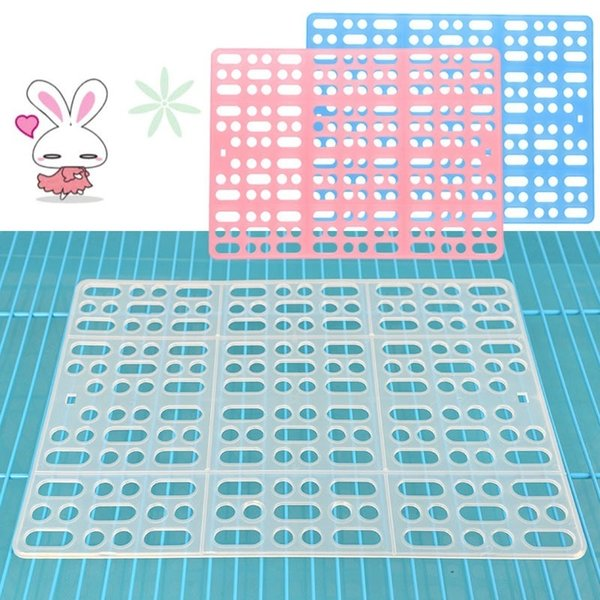 Pet Cage Grid Pad Rabbit Nest Net Pad Holland Pig Totoro Cage Accessories Pets Cage Cushion Plastic