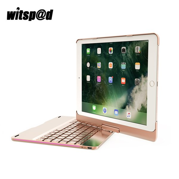180 Degree Rotation Bluetooth Keyboard With Case For iPad Pro 9.7 Inch Backlit Keyboard For iPad Air 2 Case Cover