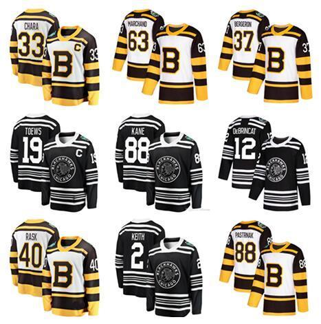 2019 Winter Classic Jersey Chicago Blackhawks Boston Bruins Toews DeBrincat Patrick Kane Seabrook Crawford Pastrnak Bergeron hockey Jerseys