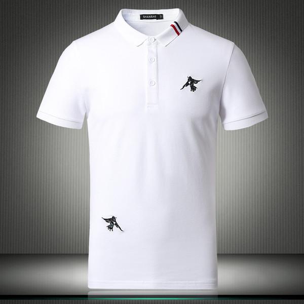 2018 New Designer Items US  Shirts For Men Short Sleeve Pure Color Breathable Birds Pattern Shirt Plus Size 4XL 5XL 81865