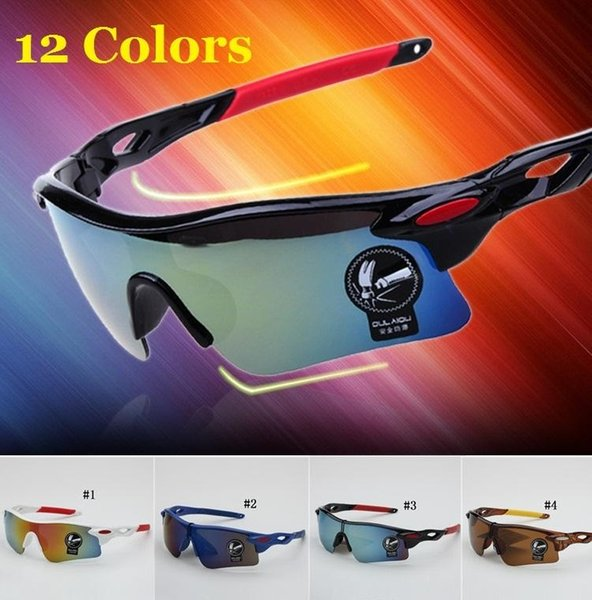 best selling 12 Colors Sports Bright Reflective Sunglasses Fashion Sunglasses Reflective Riding Sunglasses Cycling Outdoors Wind Goggle Free Shipping