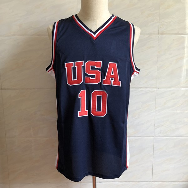 # 10 Kevin Garnett Dream Team EE. UU. Baloncesto retro Jersey bordado de hombres Cosido a medida cualquier número y nombre Camisetas