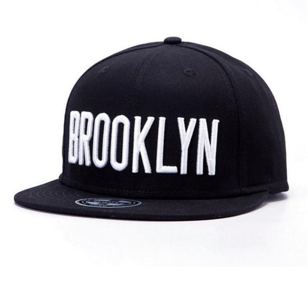Brand new man brooklyn snapback hat 6 panel adjustable black skateboard baseball caps women leisure fashion snapbacks drop shipping