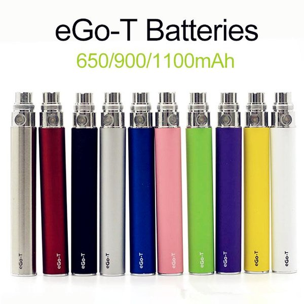 Factory price Ego-T Battery ego T 650/900/1100 mah 510 Thread match CE4 vivi Nova Atomizer VS EGO C TWIST