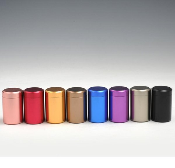 45*65mm Portable Mini Tea Tin Box round Metal Canister Candy Storage Boxes sealer pot Kitchen Tool food spice box FFA795