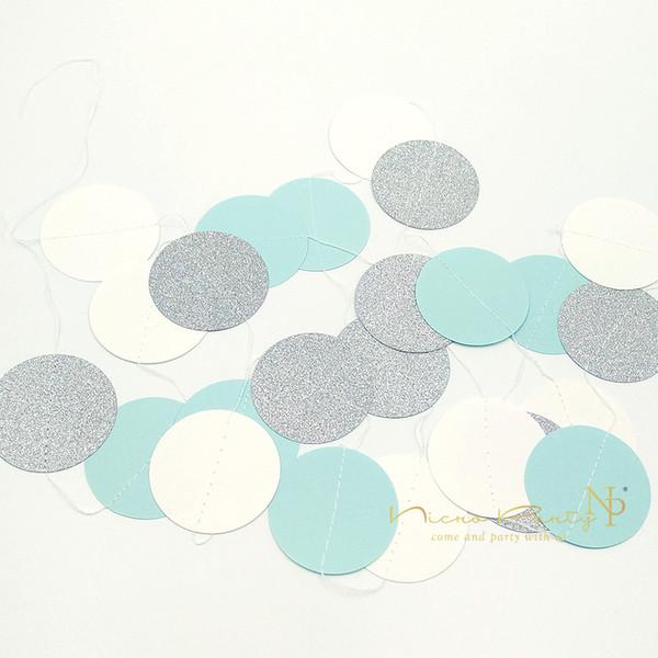 Halloween Nicro 22 Pcs / Lot Bleu Papier Fleurs Frais Blanc Blanc Argent Gland Guirlande Diy Sexe Joyeux Anniversaire Fête Décoratif Fournitures # Set08