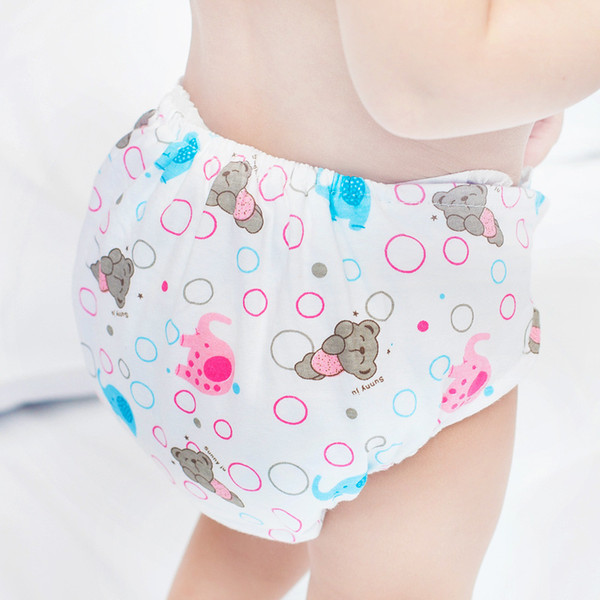 Baby Washable Cloth Diaper Adjustable Nappy Diapers Reusable Infants Children Cotton Potty Training Pants Panties Nappy Fralda