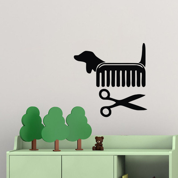Dog Grooming Salon Interior Decoration Wall Stickers Vinyl Art Decals Removable Animals Stickers For Car