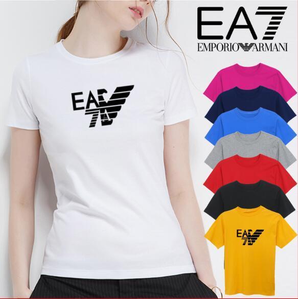 Italiano GA marca das mulheres T-shirt de impressão casual de verão 100% algodão t-shirt das mulheres trecho de manga curta T-shirt tamanho s-xl