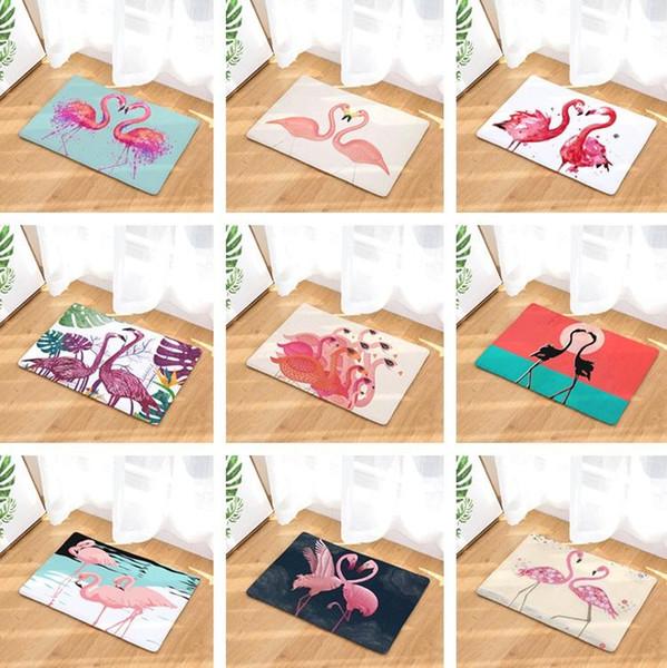 Tapete Tapete Animal Dos Desenhos Animados Flamingos Impresso Tapete Da Cozinha Do Banheiro Capacho Casa Tapetes Ao Ar Livre Sala de estar Tapete Tapete T2I342